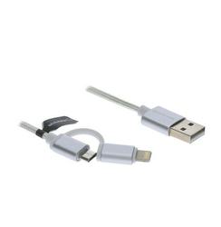 Manta Kabel USB 2w1 MicroUSBLightning