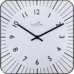 Kwadratowy zegar na ścianę Alex Radio Control Nextime 35 x 35 cm, biały 3240 WI