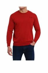 Pierre Cardin R-Napis bordowy Sweter