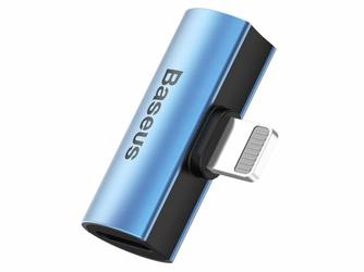 Adapter Baseus audio converter Lightning na 2x USB-C L46 Blue - Niebieski