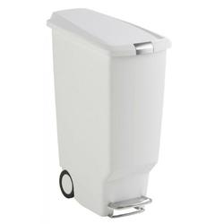 Kosz na śmieci pedałowy Slim 40 l biały