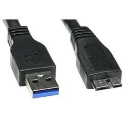 Kabel USB 3.0, USB A  M- USB micro B M, 0.5m, czarny, Logo, blistr