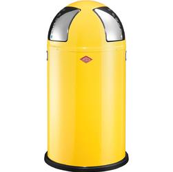 Kosz na śmieci dwukomorowy żółty Push Two 50 litrów Wesco 175861-19