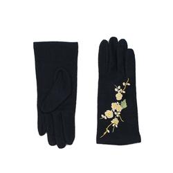 Rękawiczki z bukietem czarne - CZARNE