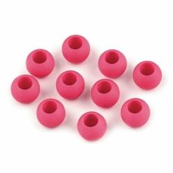 Koraliki matowe 12mm10szt. - różowy ciemny - różowy ciemny