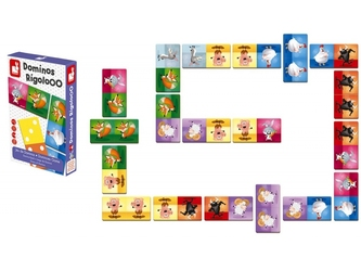 ZWIERZĄTKA tekturowa gra domino Rigolooo
