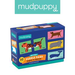 Mudpuppy Dwujęzyczne puzzle ze zwierzątkami do nauki pierwszych słów AngielskiHiszpański 2+