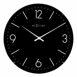 Zegar ścienny Basic Dome czarny