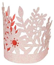 Meri Meri Korony brokatowe różowe