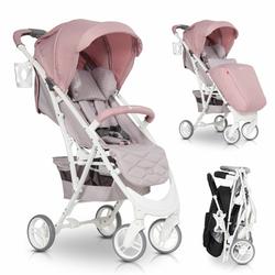 Euro Cart Volt Pro Powder Pink Wózek do 22kg + Folia + Moskitiera + Organizer