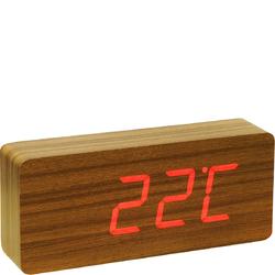 Budzik elektroniczny LED Slab Click Clock Gingko teak GK06R4