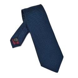 Elegancki granatowy krawat VAN THORN z grenadyny