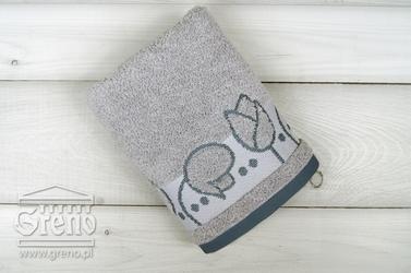 TULIPANO popielaty ręcznik bawełniany GRENO - popielaty