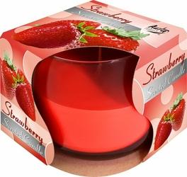 Bispol, świeca zapachowa w szkle, truskawka, 1 sztuka