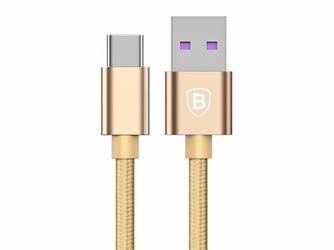 Baseus Kabel Speed QC Quick Charger USB-C typ C 5A 1M Złoty - Złoty