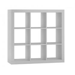 Regał z dziewięcioma półkami Loki 3x3 biały