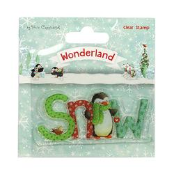 Zimowy stempel Wonderland SNOW