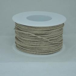 Ozdobny sznurek papierowy z drutem - naturalny - NAT