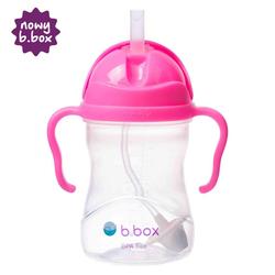 NOWY innowacyjny bidon ze słomką b.box różowy granat - różowy granat