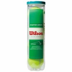 WILSON Piłka Do Tenisa Ziemnego STARTER GREEN 4 PAK WRT137400