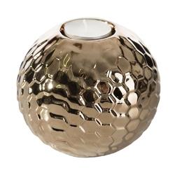 Dekoracyjny świecznik ceramiczny Cecylia złoty
