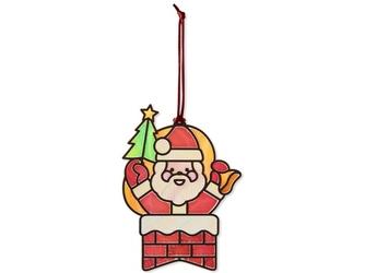 ŚWIĘTY MIKOŁAJ świąteczna ozdoba witrażyk