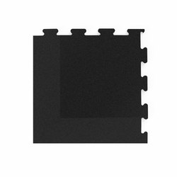 Narożnik do podłogi pod wolne ciężary puzzle czarny - marbo sport