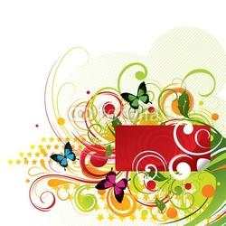 Obraz na płótnie canvas trzyczęściowy tryptyk kompozycja kolorystyczna z motylami