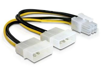 Delock kabel rozdzielacz zasilania 2xhdd1xpci express 6pin