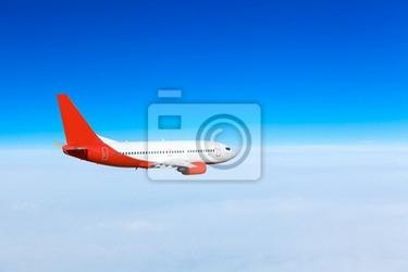 Fototapeta samolot na niebie. samolot pasażerski