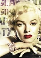 Marilyn monroe glamour colour - plakat