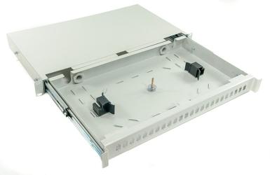 Przełącznica światłowodowa 1u 19 24x sc simplex szara wysuwana - szybka dostawa lub możliwość odbioru w 39 miastach