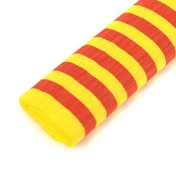 Bibuła marszczona 50x200 cm w paski - czerwono-żółta