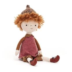 Morelowa lalka apricot doll, jellycat, 30 cm