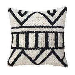 Hkliving :: poduszka dziergana biało-czarna 50x50