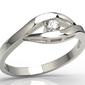 Pierścionek zaręczynowy z białego złota z diamentem lp-9910b
