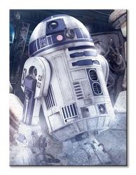 Star wars: the last jedi r2-d2 droid - obraz na płótnie