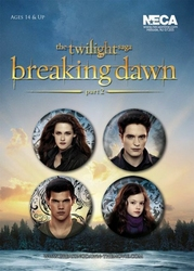 Twilight - Breaking Dawn Part 2 - zestaw 4 przypinek