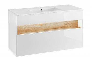 Szafka łazienkowa inagua white wisząca pod umywalkę 120 cm