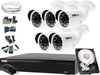 Zestaw do monitoringu: rejestrator lv-xvr84se-ii, 5x kamera lv-al30htw-s, 1tb, akces