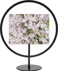 Ramka na zdjęcia infinity okrągła 10 x 15 cm czarna