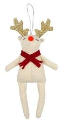 Zawieszka świąteczna - ozdoba choinkowa meri meri - renifer czerwony