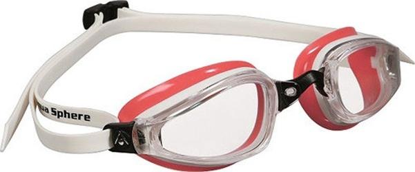 Aquasphere okulary k180 lady jasne szkła biały-czerwony