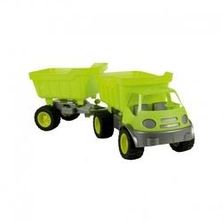Samochód active z przyczepą ciche koła mochtoys zielony