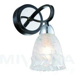 Ofelia kinkiet 1 brąz chrom szkło