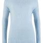 Sweter z dekoltem w łódkę bonprix pudrowy niebieski