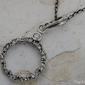 Malaga - srebrny wisiorek z kryształkami