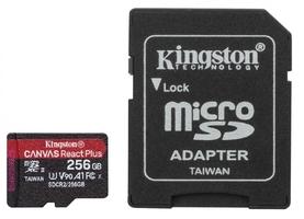 Kingston karta pamięci microsd 256gb react plus 285165mbs czytnik+adapter