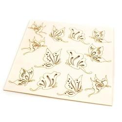 Rajskie motyle - zestaw dekoracyjny 12 szt.
