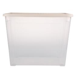Pojemnik  organizer do przechowywania i na pościel modułowy tontarelli combi box z pokrywką arianna kremowy 67 l